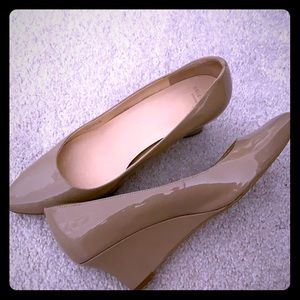 Cole Haan patent leather wedge heels